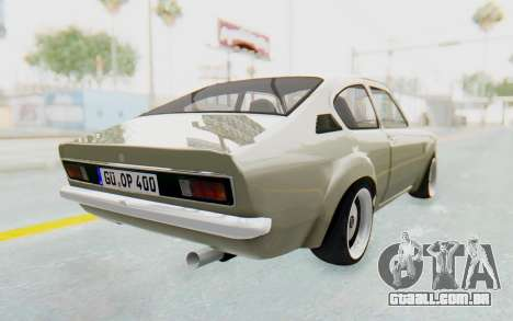 Opel Kadett C Coupe para GTA San Andreas traseira esquerda vista
