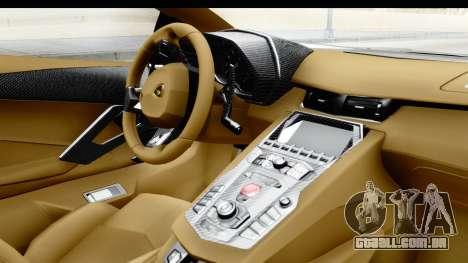 Lamborghini Aventador LP700-4 Novitec Torado para GTA San Andreas vista direita