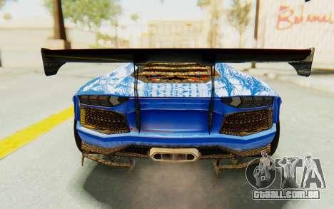 Lamborghini Aventador LP700-4 LB Walk Fenders para GTA San Andreas vista inferior