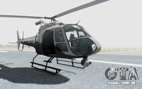 GTA 5 News Chopper Style Weazel News para GTA San Andreas vista direita