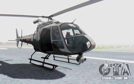 GTA 5 News Chopper Style Weazel News para GTA San Andreas vista direita