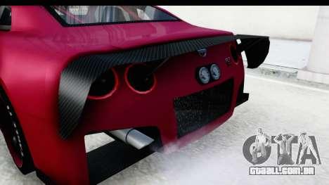 Nissan GT-R R35 Top Speed para vista lateral GTA San Andreas