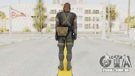 MGSV Phantom Pain Big Boss SV Sneaking Suit v2 para GTA San Andreas terceira tela