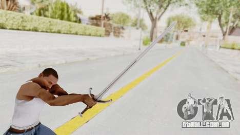 The Witcher 3: Wild Hunt - Sword v1 para GTA San Andreas terceira tela