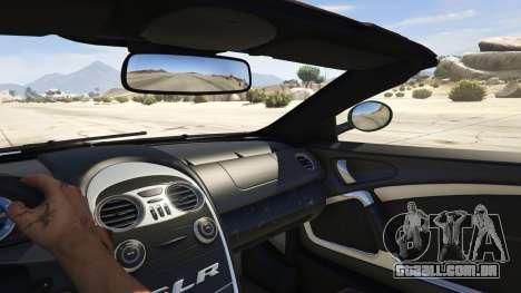 GTA 5 Mercedes-Benz SLR 722s Roadster & Mansory traseira direita vista lateral