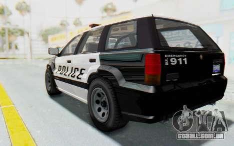 Canis Seminole Police Car para GTA San Andreas esquerda vista