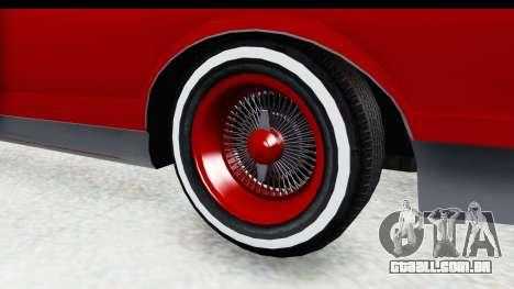 Chevrolet Monte Carlo Breaking Bad para GTA San Andreas vista traseira