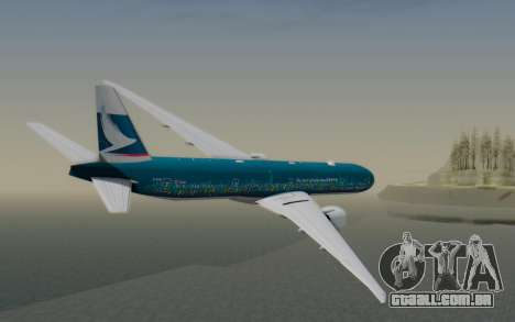 Boeing 777-300ER Cathay Pacific Airways v2 para GTA San Andreas esquerda vista