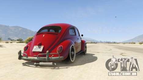 GTA 5 1963 Volkswagen Beetle 1.0.1 voltar vista
