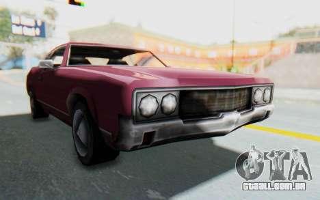 GTA VC Sabre para GTA San Andreas traseira esquerda vista