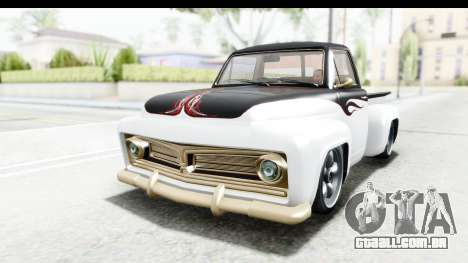 GTA 5 Vapid Slamvan Custom IVF para GTA San Andreas vista superior