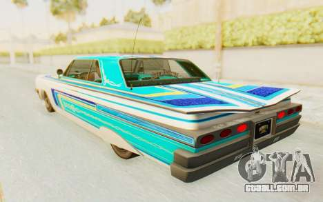 GTA 5 Declasse Voodoo Alternative v2 para GTA San Andreas vista superior