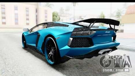 Lamborghini Aventador LP700-4 Novitec Torado para GTA San Andreas vista interior
