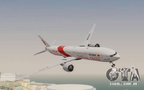 Boeing 777-300ER China Air para GTA San Andreas traseira esquerda vista