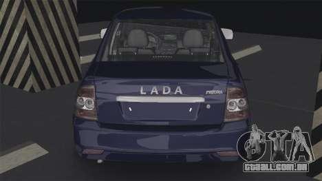 Lada Priora 2170 para GTA San Andreas traseira esquerda vista