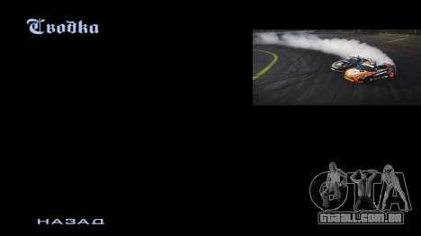 New menu para GTA San Andreas terceira tela