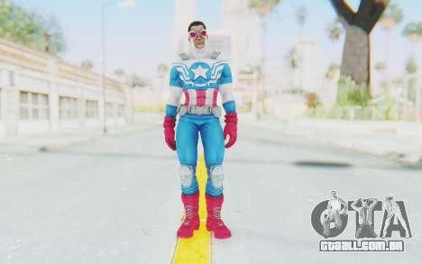 Marvel Heroes - Capitan America Sam Wilson para GTA San Andreas segunda tela