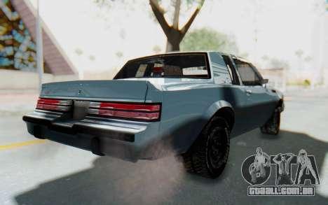 Buick GNX 1987 para GTA San Andreas traseira esquerda vista