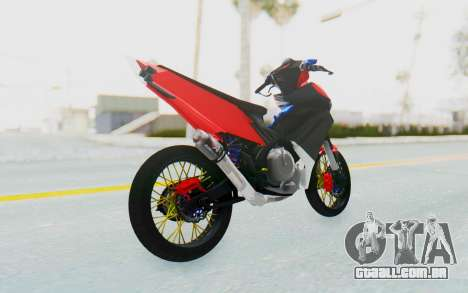 Yamaha Jupiter MX 135 Semi Roadrace para GTA San Andreas esquerda vista