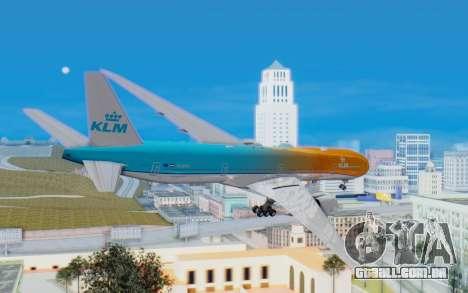 Boeing 777-300ER KLM - Royal Dutch Airlines v4 para GTA San Andreas vista direita
