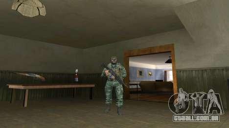 O airborne soldado na camuflagem de bétula para GTA San Andreas