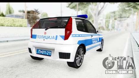 Fiat Punto Mk2 Policija para GTA San Andreas esquerda vista