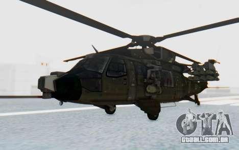 MGSV Phantom Pain UTH-66 Blackfoot para GTA San Andreas traseira esquerda vista