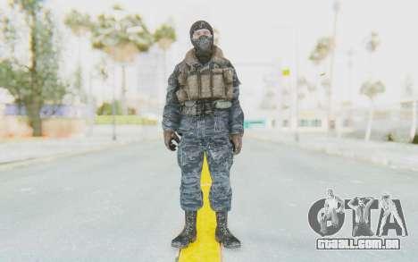 COD BO Russian Soldier Winter Balaclava para GTA San Andreas segunda tela