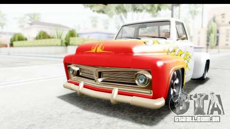 GTA 5 Vapid Slamvan Custom IVF para GTA San Andreas vista inferior