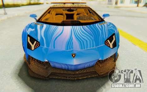 Lamborghini Aventador LP700-4 LB Walk Fenders para GTA San Andreas vista superior