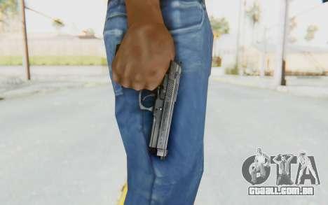 Tariq Iraqi Pistol Back v1 Silver para GTA San Andreas terceira tela