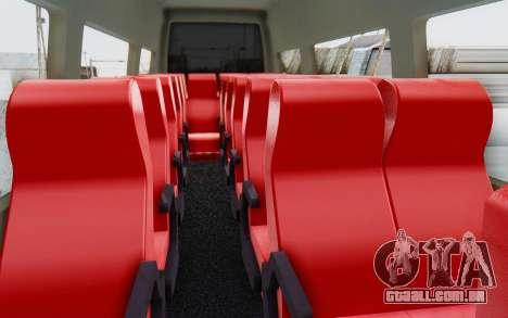 Iveco Daily Minibus 2015 para GTA San Andreas vista interior