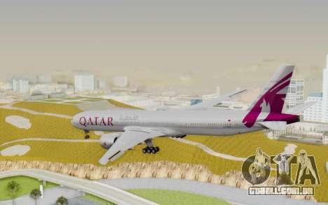 Boeing 777-300ER Qatar Airways v1 para GTA San Andreas esquerda vista