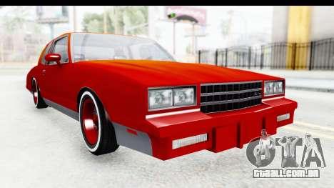 Chevrolet Monte Carlo Breaking Bad para GTA San Andreas vista direita