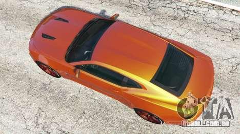 GTA 5 Chevrolet Camaro SS 2016 v2.0 voltar vista