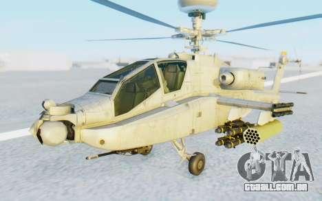 AH-64 Apache Marines para GTA San Andreas vista direita