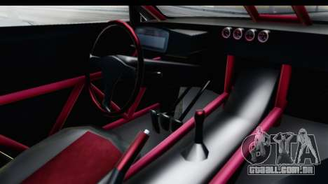 Nissan GT-R R35 Top Speed para GTA San Andreas vista interior