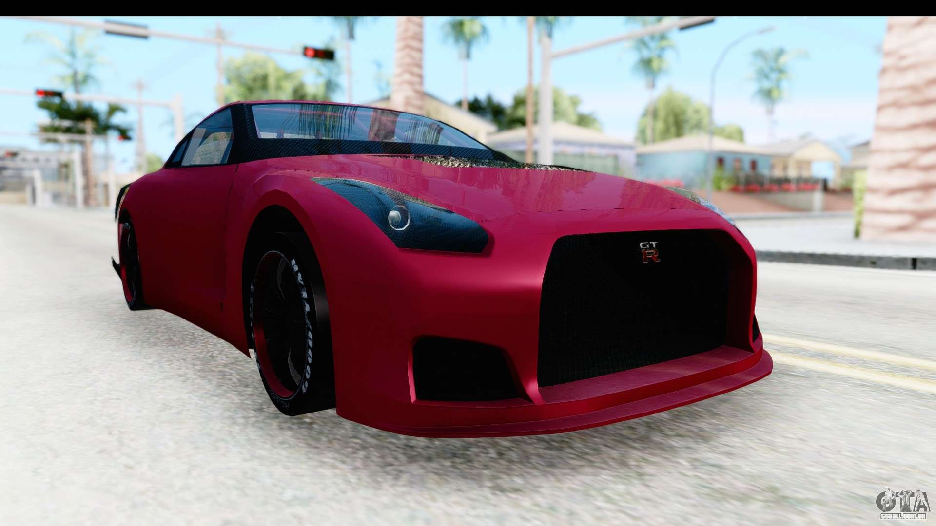 Nissan GT R R35 Top Speed Para GTA San Andreas Vista Direita