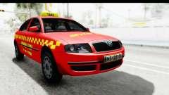 Skoda Superb Táxi Vermelho