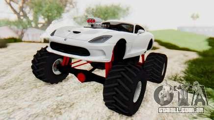 Dodge Viper SRT GTS 2012 Monster Truck para GTA San Andreas