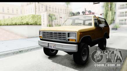 Ford Bronco 1980 Roof IVF para GTA San Andreas