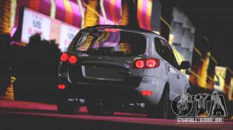 Hyundai Santa Fe Stock para GTA San Andreas vista superior
