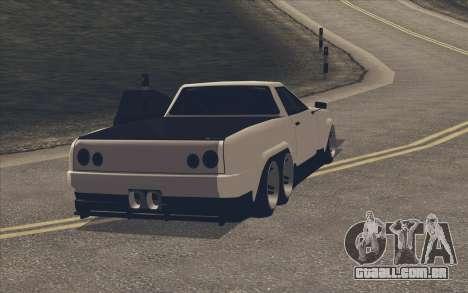 Elegy Ibragim para GTA San Andreas traseira esquerda vista