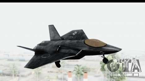 CoD Black Ops 2 - FA-38 para GTA San Andreas traseira esquerda vista