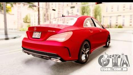 Mercedes-Benz CLA45 AMG 2014 para GTA San Andreas vista direita