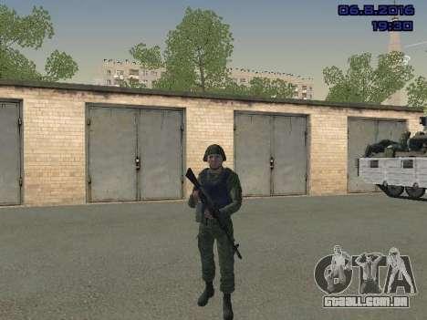 O driver da MIA para GTA San Andreas por diante tela