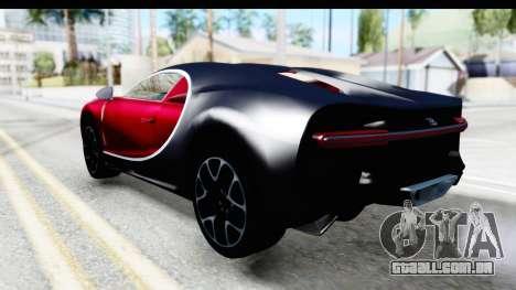 Bugatti Chiron 2017 v2 para GTA San Andreas esquerda vista