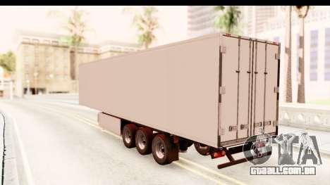 Trailer ETS2 v2 New Skin 1 para GTA San Andreas traseira esquerda vista