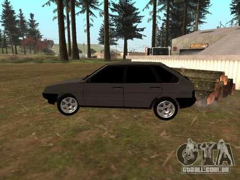 2109 Clássicos para GTA San Andreas traseira esquerda vista