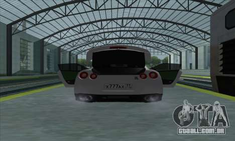 Nissan GT-R R35 Green Screen para GTA San Andreas vista direita